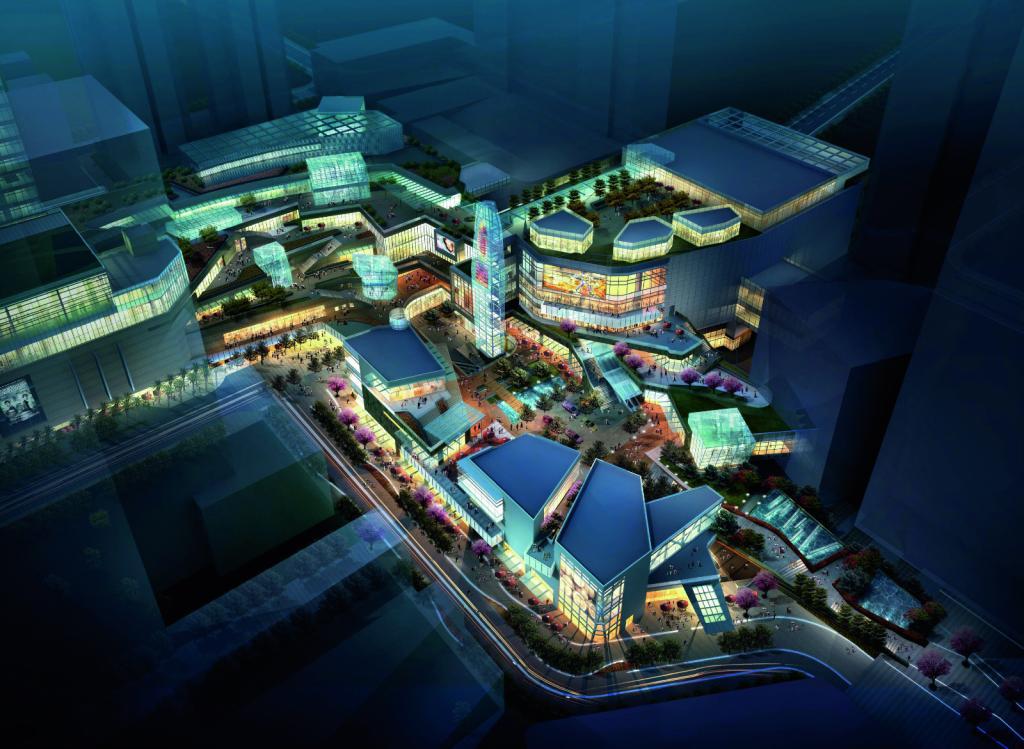 九方城是由中航集团倾力打造的都市综合体,华阳国际除了在深圳华强北